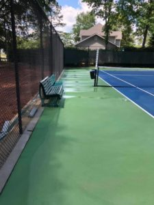 tennis court cleaning job by ross property services