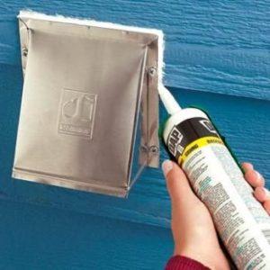 caulking around outdoor dryer vent, caulking services
